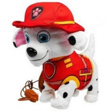 Интерактивная игрушка Собачка Маршалл Щенячий патруль на поводке: ходит, виляет хвостом, лает, поет 20х10х23см