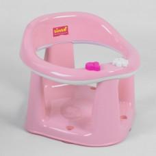 Детский Стульчик-Сиденье для купания детей с 6 месяцев - анатомическая форма, присоски, игрушки - Bimbo Pink Light