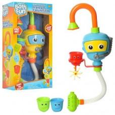 """Замечательный набор Игрушка для ванной """"Забавный кран"""" с 3 формочками, размер игрушки 13-10-50 смарт. 9908"""