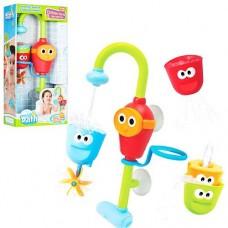 """Замечательный набор Игрушка для ванной """"Забавный кран"""" с 3 формочками, высота игрушки 36 см. арт. 40116"""