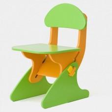 Детский Стул регулируемый по высоте для стола и парты растущий, для ребенка от 2 года до 7 лет green-orange