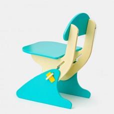 Детский Стул регулируемый по высоте для стола и парты растущий, для ребенка от 2 года до 7 лет blue
