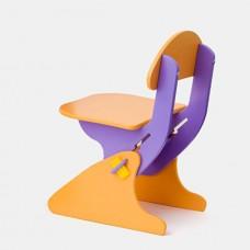 Детский Стул регулируемый по высоте для стола и парты растущий, для ребенка от 2 года до 7 лет violet-orange