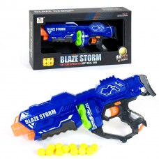 Детский Игровой Автомат Бластер Нерф Blaze Storm с открытым барабаном и 12 мягкими пулями-шариками - Nerf