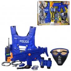 Детский игровой набор полицейского состоит из 6 элементов с бронежилетом POLICE SWAT арт. 33530