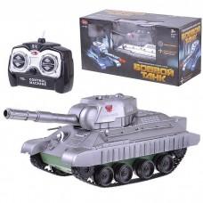 Игрушечный Танк на радиоуправлении Play Smart стреляет пулями, размер танка 25х11х10 см арт. 9342