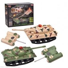 Игрушечный набор из двух танков Танковый бой на радиоуправлении, размер танков 20х7.5х7 см арт. 9672
