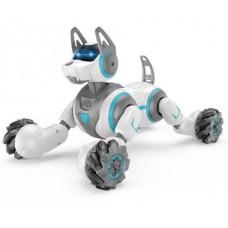 Игровая Интерактивная Собака-робот на радиоуправлении с пульта или браслета, звуковые эффекты, 31 см, белый