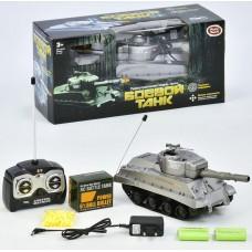 Детский Игрушечный Танк на радиоуправлении с пультом, стреляет пулями, размер танка 26х11х10 см Play Smart