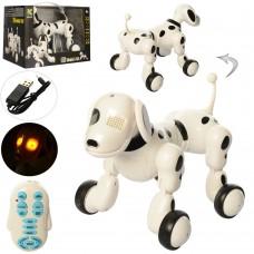 Игрушечная Собака интерактивная на радиоуправлении со световыми и звуковыми эффектами, размер 23 см арт. 619