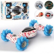 Игровая Трюковая машинка-перевертыш для мальчиков на радиоуправлении через пульт или браслет, цвет: красный