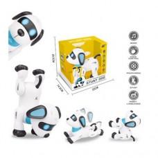 Интерактивная игрушка для детей Собака на радиоуправлении с функцией программирования, реагирует на хлопок