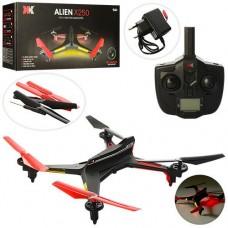 Детская Игровой Квадрокоптер с подсветкой, автоматическим возвратом домой, пульт, запасные лопасти арт. X250