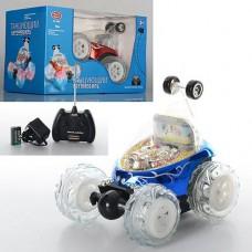 Детская Машинка Перевертыш Танцующий Автомобиль на радиоуправлении, поворот 360°, свет. и звук. эфф, арт. 9295