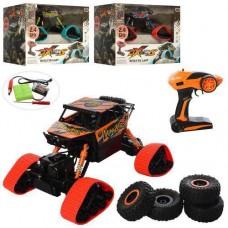 Игрушка для мальчиков Джип Краулер: радиоуправление, амортизаторы, резиновые колеса, съемные гусеницы, синий