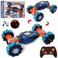 Игровая Трюковая машинка-перевертыш для мальчиков на радиоуправлении со световыми и звуковыми эффектами