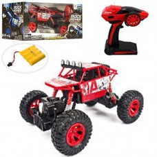 Детская Машинка для мальчиков Джип Краулер Crawler на радиоуправлении, резиновые колеса, красный арт. ZG 1801