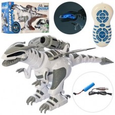 Игровой Интерактивный Робот Динозавр на радиоуправлении, реагирует на прикосновение, свет и звуковые эфф. 55см