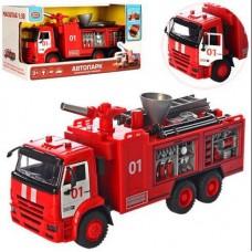 Детская Игрушка для мальчиков Машинка Автопарк Пожарная машина, брызгает водой, звук и свет. эффекты арт. 9624