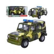 Детская Игрушка для мальчиков Машинка Автопарк УАЗ военный, со светом и звуковыми эффектами, резиновые колеса