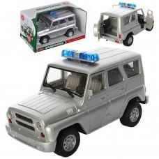 Детская Игрушка для мальчиков Машинка Автопарк УАЗ спецслужба, свет и звуковые эффекты, резиновые колеса