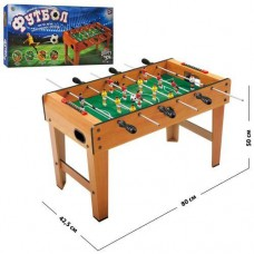 Настольная спортивная деревянная игра для детей Футбол на штангах, мяч, шкала ведения счета 80х42.5х50см