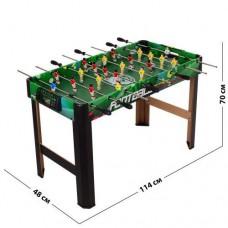 Напольная Спортивная игра Футбол детский деревянный на ножках для 2 игроков со счетчиками голов 114х48х70см