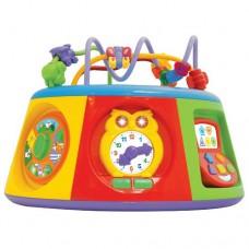 Детская Развивающая игрушка Мультицентр звук. и свет. эффекты, лабиринт, часики TM Kiddieland (укр) арт. 54932