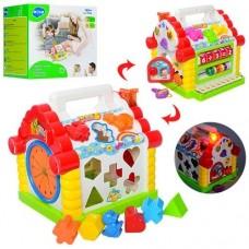 Детская развивающая музыкальная игрушка Теремок-Сортер, многофункциональная, звуковые и световые эффекты, Hola