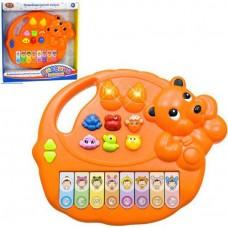 Детское развивающее Пианино, воспроизводит мелодии и голоса животных и птиц, 3 режима, оранжевое, Play Smart