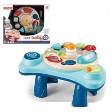 Детский Развивающий Столик Игровой Центр со звуковыми и световыми функциями, пищалка, погремушка, трещотка