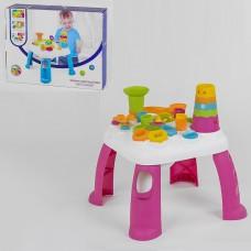 Развивающий многофункциональный столик РОЗОВЫЙ арт. 91161