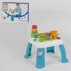 Детский Развивающий Игровой Стол, свет. и звук. эффекты, шестеренки, пирамида, лабиринт с шариками арт. 91161