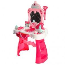 Детский Игровой Набор для девочек Музыкальное Трюмо с расческой, феном и аксессуарами 44х67х28 см арт. 008-907