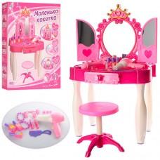 Детское Трюмо для девочек Маленькая кокетка с музыкальным зеркалом, аксессуарами, звуковые эффекты арт. 661-21