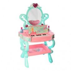 Детское музыкальное Трюмо для девочек с пианино, феном и аксессуарами, свет и звук 73х43х31 см арт. 3315