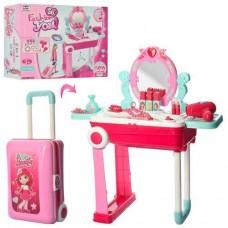 Детское Трюмо для девочек складное, в чемодане, световые и звуковые эффекты, размер 53х60х24 см арт. 008-923