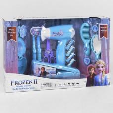 Игровой набор Парикмахера Frozen - фен с выдувом, 2 плойки, утюжок, аксессуары, шкатулка, свет, звуковые эффекты