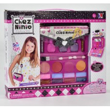 Набор детской безопасной косметики: сумочка с блеском для губ, тенями, румянами, лаком для ногтей арт. 77016