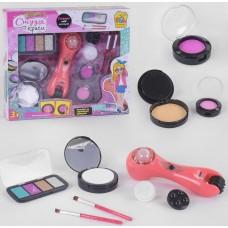 Набор детской косметики Студия красоты: массажер для лица, пудреница, палетка с тенями, румяна, 2 кисточки