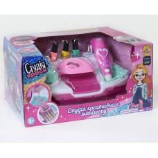 Набор для детского маникюра Студия красоты с сушкой для ногтей, аксессуарами и 3 флакончиками лака арт. 7422