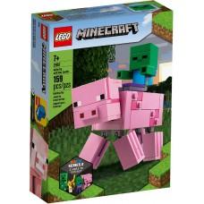 Lego Minecraft Большие фигурки Minecraft Свинья и Зомби-ребёнок 21157
