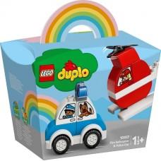 Lego Duplo Пожарный вертолет и полицейский автомобиль 10957