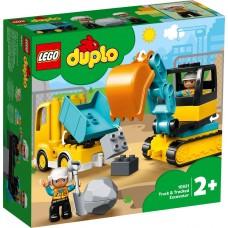 Lego Duplo Грузовик и гусеничный экскаватор 10931