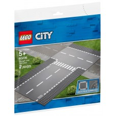 Lego City Прямой и Т-образный перекрёсток 60236