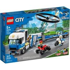 Lego City Полицейский вертолётный транспорт 60244