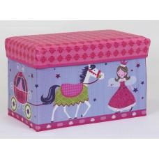 Детский пуф (корзина для игрушек) РОЗОВЫЙ арт. 36527