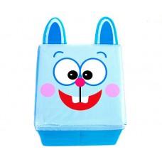 Детский пуф-органайзер коробка 3 в 1 (корзина, ящик для игрушек) Заяц размер 40х40х40 см