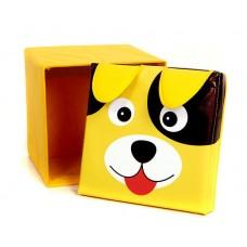 Детский пуф-органайзер коробка 3 в 1 (корзина, ящик для игрушек) Собака размер 40х40х40 см