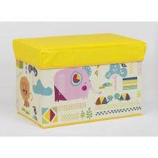 Детский пуф (корзина для игрушек) ЖЕЛТЫЙ арт. 36527